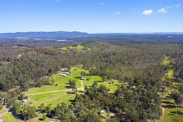 Aerial view of 40 acre property layout | Hunter Hideaway Cottages- Hunter Valley